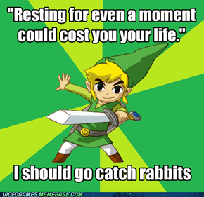 Spirit Tracks Link Knows His Priorities