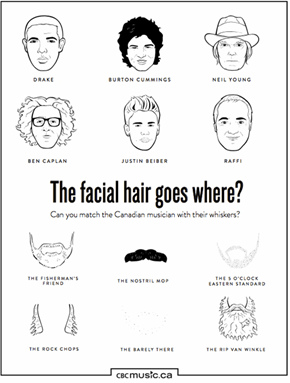 Match The Facial Hair to the Canadian