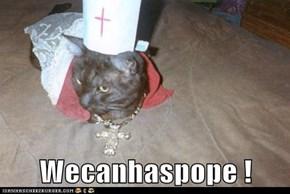 Wecanhaspope !