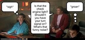 James T. Kirk: intergalactic backseat driver.