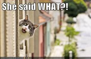 She said WHAT?!