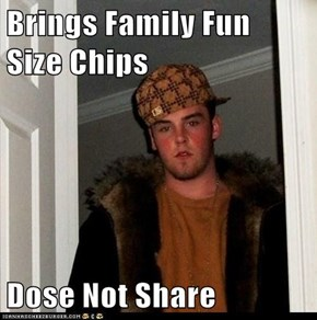 Brings Family Fun Size Chips  Dose Not Share