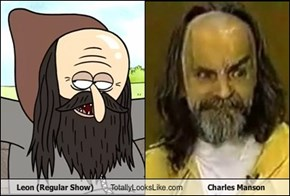 Leon (Regular Show) Totally Looks Like Charles Manson