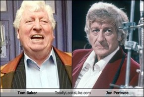 Tom Baker Totally Looks Like Jon Pertwee