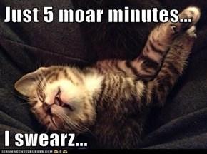 Just 5 Moar Minutes...