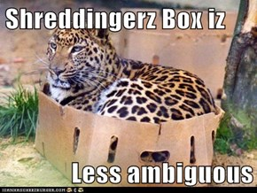 Shreddingerz Box iz  Less ambiguous