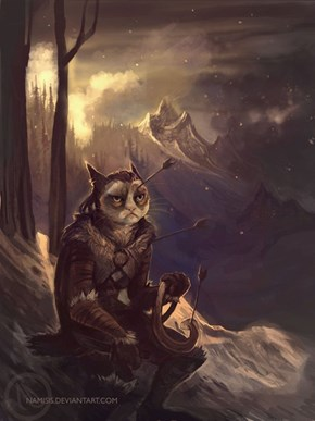 Grumpy Cat as a Khajiit