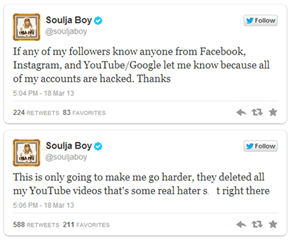 Hack of the Day: Hacker Wipes Out Soulja Boy's Music Videos from YouTube