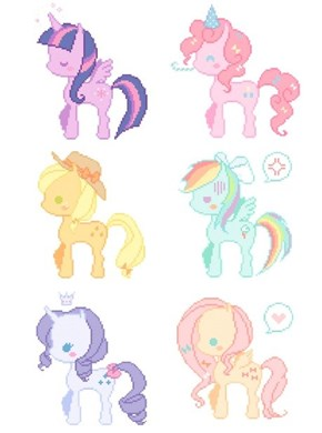 Look at These Cute Pastel Ponies