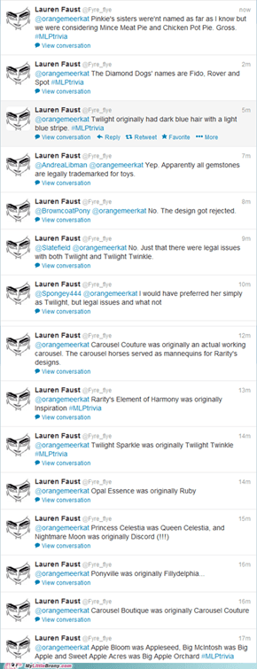 Info from Lauren Faust