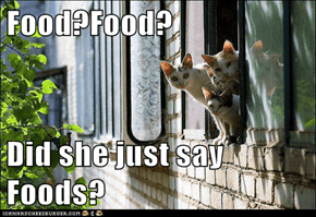 Food?Food?  Did she just say Foods?