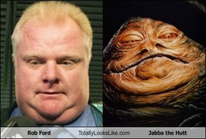 Rob Ford Totally Looks Like Jabba the Hutt