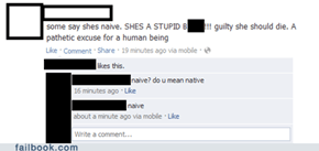 Don't know what's scarier, her fail or this guy's status...