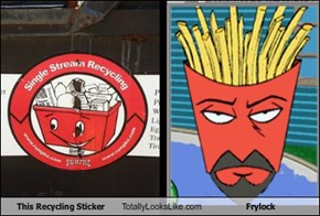 This Recycling Sticker Totally Looks Like Frylock
