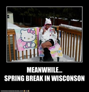 MEANWHILE... SPRING BREAK IN WISCONSON