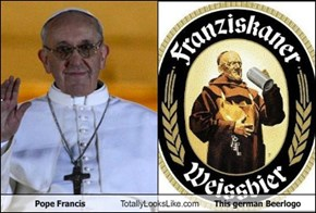 Pope Francis Totally Looks Like This german Beerlogo