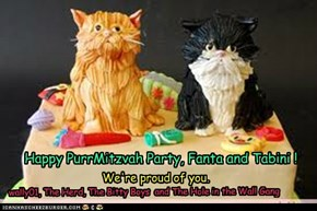 Happy PurrMitzvah Party, Fanta and Tabini !