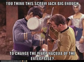 YOU THINK THIS SCREW JACK BIG ENOUGH  TO CHANGE THE WARP NACELLE OF THE ENTERPRISE?