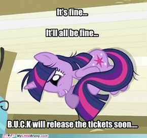 Waiting for B.U.C.K tickets