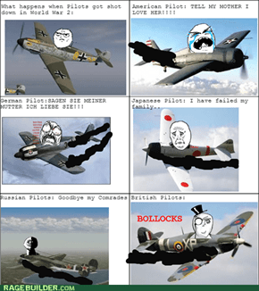 Pilots in World war 2