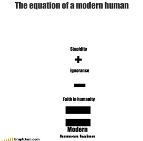 The equation of a modern human