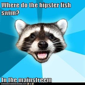 Where do the hipster fish swim?  In the mainstreem