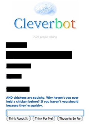 Cleverbot Loves to Feel Them Chickens