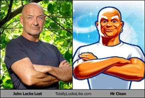 John Locke Lost Totally Looks Like Mr Clean