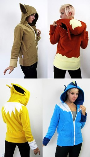 You Don't Even Need an Evolution Stone for These Eeveelution Hoodies