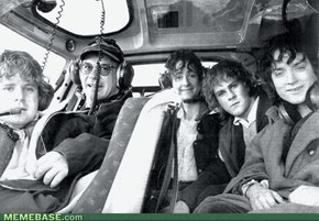 Hobbits On A Plane. That Is All.