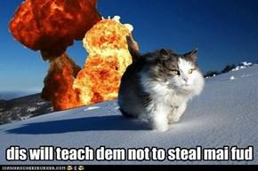 dis will teach dem not to steal mai fud