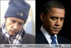 Sleeping Commuter Totally Looks Like Obama