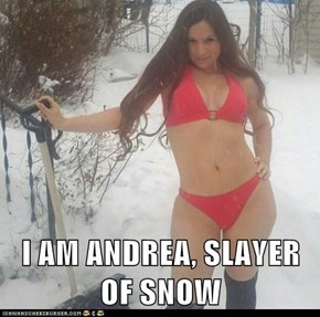 I AM ANDREA, SLAYER OF SNOW