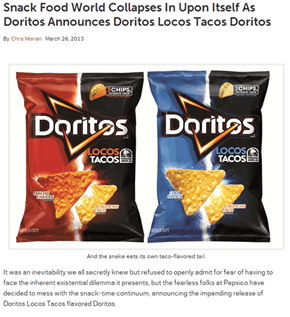 Maybe We've Finally Gone Too Far, Doritos