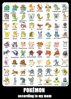 Do Your Parents Know Each Pokemon's Name?