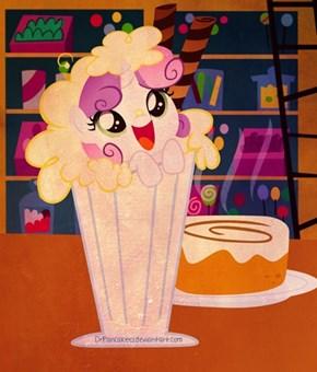 Sweetie Belle in a Milkshake