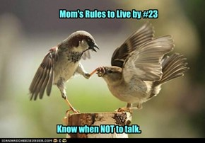 Mom's Rules to Live by #23