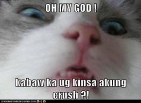 OH MY GOD !  kabaw ka ug kinsa akung crush ?!