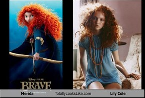 Merida Totally Looks Like Lily Cole