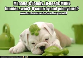 My page, it tis lonely!
