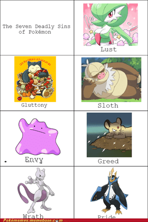 The Seven Deadly Sins of Pokémon