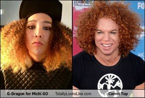 G-Dragon for Michi GO Totally Looks Like Carrot Top