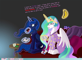 Celestia Is tired of your manners