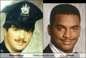 Police Officer Totally Looks Like Carlton