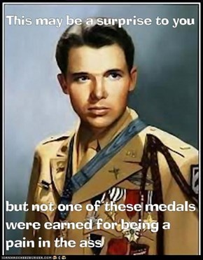 The highly respected Audie Murphy. That bottom lip is way too cute