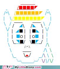 my little text art: typing is magic- Rainbow Dash