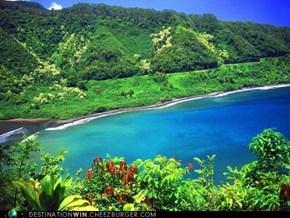 Road to Hana, Turquoise Lagoon, Maui, Hawai