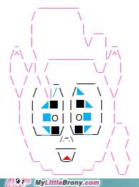my little text art: typingis magic- Pinkie Pie