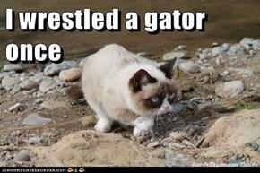 I wrestled a gator once