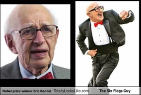 Nobel prize winner Eric Kandel Totally Looks Like The Six Flags Guy